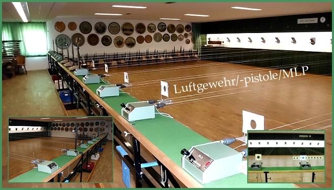 17 Luftdruck-Stände und 1 MLP-Vorrichtung